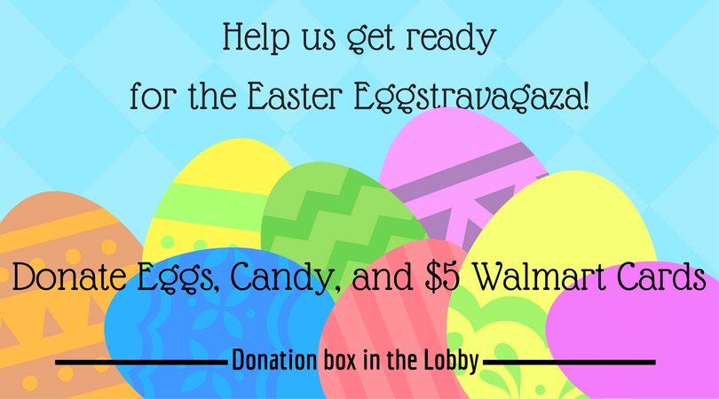 Eggs candy gift cards needed for easter eggstravaganza immanuel will be hosting an easter eggstravaganza for our community including our church and school families on saturday april 15 from 12 noon to 200 negle Images